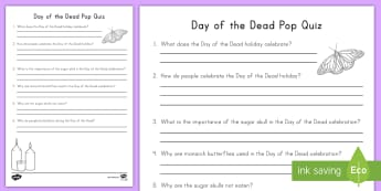 Day of the Dead Pop Quiz - day of the dead, day of the dead pop quiz, pop quiz, dia de los muertos, Hispanic Holidays, hallowee
