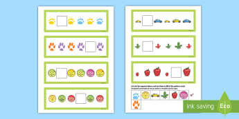 Missing Pattern Cards Activity English/Romanian - card,  missing, patterns, eal, cut out, colour