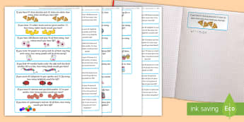 Addition and Subtraction to 100 Word Problem Challenge Cards - Addition and Subtraction to 100 Word Problem Challenge Cards, challenge, +, - , subtraction, additio