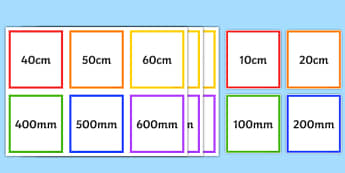 mm cm m km Equivalents Matching Cards - mm, cm, m, km, equivalents, matching, cards, flashcard, card, activity, millimetres, centimetres, metres, kilometres, equal, length