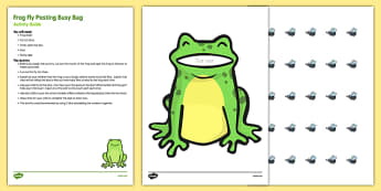 Frog Fly Posting Busy Bag Resource Pack For Parents - EYFS, planning, resources, frog, insect, fly, flying, maths, mathematics, numeracy, parents, early years
