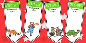 Aesop's Fables Bookmarks - Aesop's fables, reading, books, read