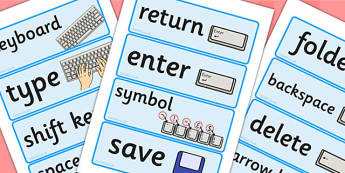 Word Processing Skills Word Cards - Word, Skills, Word, Cards