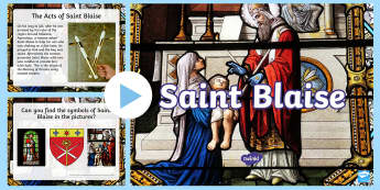Saint Blaise PowerPoint - Saint Blaise, throat, February, 3rd, third, saint, blessing, powerpoint, Acts of Saint Blaise, legen