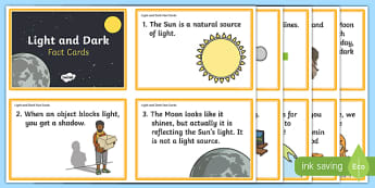 Light and Dark Fact Cards