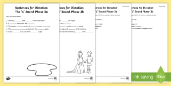 Northern Ireland Linguistic Phonics Stage 5 and 6, Phase 3a and 3b, 'd' Dictation Sentences Activity - Linguistic Phonics, Stage 5, Stage 6, Phase 3a, Phase 3b, Northern Ireland, sentences, dictation, wo