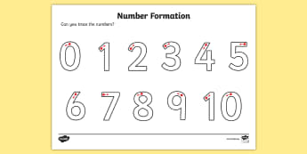 Number Formation Activity Sheet - Number formation, tracing numbers, tracing sheet, 0-9 tracing, 0-9, number writing practice, foundation stage numeracy, writing, learning to write, worksheet, overwriting