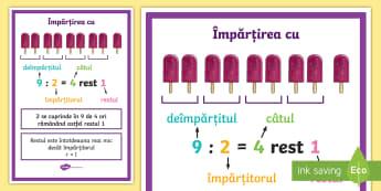 Împărțirea cu restul diferit de 0 (zero) - Display Resources Romania,Romanian, Împărțirea cu restul diferit de 0 (zero)