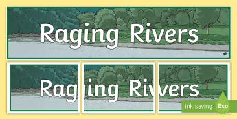 Raging Rivers Display Banner - Raging Rivers Display Banner - banner, display, abnner, rivers, water, raging rivers, display, displ