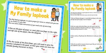 My Family Lapbook Instructions Sheet - lapbooks, instructions
