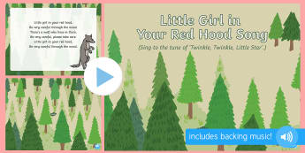 Little Girl in Your Red Hood Song PowerPoint