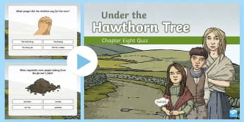 Chapter Eight Quiz PowerPoint to Support Teaching on Under the Hawthorn Tree -  stories, novel, comprehension, reading, English, vocabulary work, Irish famine, famine,,Irish
