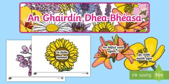 Garden of Good Manners Display Pack Gaeilge - garden, of, manners, gaeilge, display, flowers, sphe,Irish