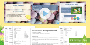 Easter PowerPoint Pack-French - KS4, French, Easter, Reading, Pâques, PowerPoint,  differentiated, spring, celebration, tradition.,