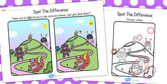 Monsters Spot the Difference Activity - activities, games, game