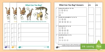 Animal Shopping Differentiated Activity Sheets - money, shopping, value, price, money handling, animal, coins