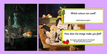 Fruit Paintings Photopack and Prompt Questions Polish Translation - polish, photo, pack