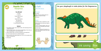 Playdough Recipe and Mat Pack  to Support Teaching on Harry and the Bucketful of Dinosaurs Playdough Recipe and Mat Pack - Harry and the Bucketful of Dinosaurs, Ian Whybrow, dinosaurs, fine motor, gross motor, stegosaurus,