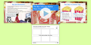 'TV Box Sets Are Better Than Films.' Debate Pack - television, cinema, ks3, entertainment, form period
