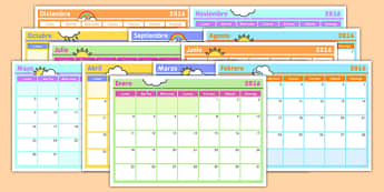 Spanish Calendar - spanish, calendar, languages, dates, months