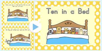 Ten In A Bed PowerPoint - powerpoints, bears, rhyme, rhymes