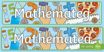 Baner Arddangosfa Mathemateg - cornel mathemateg, General Displays, wall mathemateg, welsh displays, welsh display, new display, maths, english, reward, gwobrwyo,.,Wel