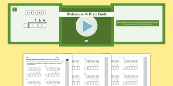 KS2 Reasoning Test Practice Missing Number Calculations Division with Digit Cards Resource Pack - Key Stage 2, KS2, Reasoning, Test, Practise, Missing Number, Long division