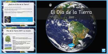 Presentación: Información sobre el Día de la Tierra - Día de la Tierra, información, presentación, powerpoint, power point, medioambiente, clima, cambi