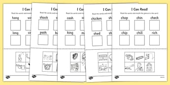 I Can Read Phase 3 Consonant Digraph Words Activity Sheet - read, worksheet