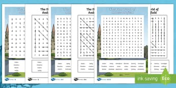 The Dual World of Anders Arnfield Differentiated Word Search - dreams, storybook, fiction, puzzle, wordsearch