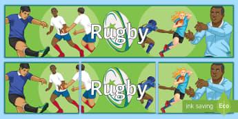 Rugby Display Banner - Rugby, Display, Banner, Noticeboard, Sport