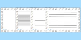 Lamb Landscape Page Borders- Landscape Page Borders - Page border, border, writing template, writing aid, writing frame, a4 border, template, templates, landscape