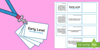 *NEW* CfE Early Level Information Handling Lanyard-Sized Benchmarks - Information Handling, assessment, data, interpreting data, data analysis, ,Scottish