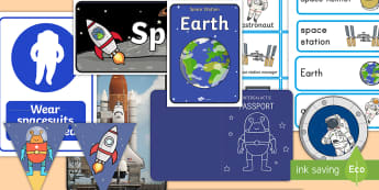 Space Station Role-Play Pack - space, space station, play pack, role play, imagination