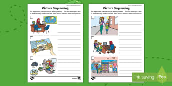 Where in the World Shall We Go? Sequencing Activity Sheet - ROI, Where in the World Shall We Go, Aistear, Travel Agents, Sequence the Story, worksheet, Irish