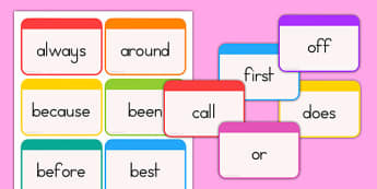 Dolch Word Flashcards Second Grade - usa, dolch, word, flashcards, flash cards, cards, second grade