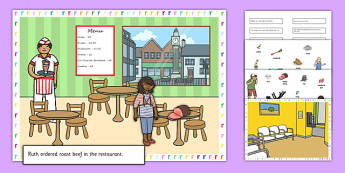 Silly R Sentences Cut and Stick Pictures - silly r, sentence, cut and stick, pictures
