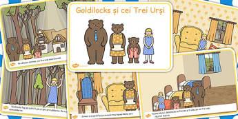 Goldilocks si cei trei ursi, lectura, rezumat cu imagini, imprimabile, Romanian