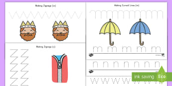 Pencil Control Activity - pencil control, activity, tracing, writing, fine motor skills, special education