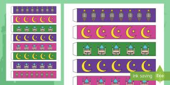 نشاط لصنع زينة عيد الفطر  - زينة، عيد، الفطر، نشاط، جماعي، صنع، أشغال، احتفالات، د