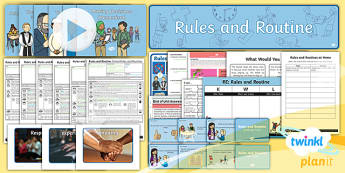 PlanIt - RE Year 2 - Rules and Routines Unit Pack  - RE, Rules and Routine, religious education, religion, rules, planning