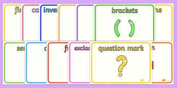 Punctuation Characters Display Posters - punctuation, grammar