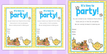 Nursery Rhyme Themed Picnic and Party Invitation - invitation