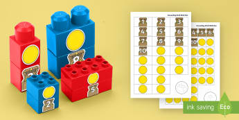 Pirate Treasure Counting Connecting Bricks Game - EYFS, Early Years, KS1, Connecting Bricks Resources, duplo, lego, plastic bricks, building bricks, M