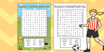 Womens Football World Cup 2015 Wordsearch - wordsearch, football