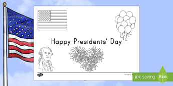 Presidents' Day Coloring Page - Presidents' Day