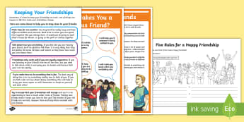 Friendship Resource Pack - kindness, bullying, making ,new, friends,