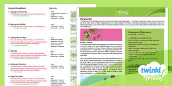 Twinkl Move - Year 4 Hockey: Overview  - PE, invasion games, stick, team sport, unit, planning, resources