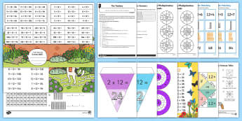 12 Times Tables - - twelve times, 12 times, table, tables, games, activities