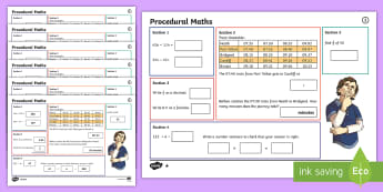 Procedural Year 5 Mat 1 Maths Activity Mats - Procedural, national tests, money, time, measures, tests, test practice wales, Wales,Maths Acitvity